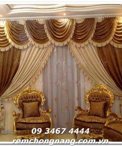 Rèm vải nhung( gấm) cao cấp - thương hiêụ Rèm đẹp Sài Gòn - 09 3467 4444