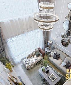 Rèm thông tầng căn hộ cao cấp Quận 1