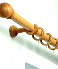 thanh treo rèm bằng gỗ